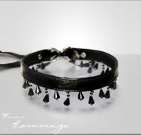Halsband Pearl Black Faire Hommage 846 0