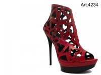 High Heel Pumps Vernice Rossa In Rot Von Black Venus 726 1