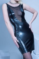 Kurzes Kleid Alvina Wetlook Schwarz Les Peties Folies 803 2