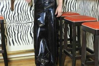Langer Rock Skirt Fire 057 E Schwarz Peter Domenie 331 0