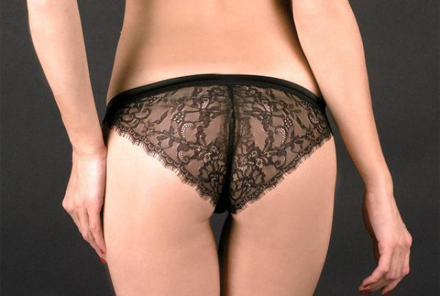 Panty Sublime Luxure in schwarz von Maison Close